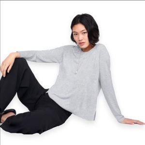 ZARA Basic Light Grey Knit Pullover Sweater